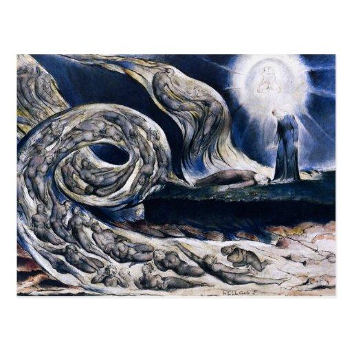 William Blake die Liebhaber-Wirbelwind-Postkarte