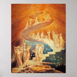 William Blake Jakobs Leiter Plakate
