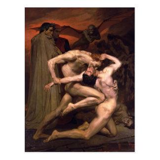 William Bouguereau- Dante und Virgil in der Hölle Postkarte