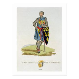 William de Longuespee, 3. Graf von Salisbury (d.12 Postkarte