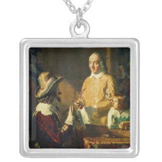 William Harvey, der zu Charles I demonstriert Halskette Mit Quadratischem Anhänger