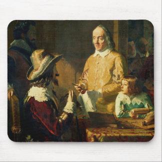 William Harvey, der zu Charles I demonstriert Mousepads