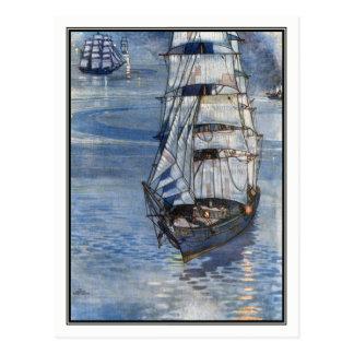 William-Heide Robinson - Vintage Schiffs-Kunst Postkarte