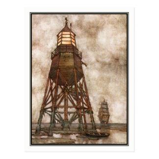 William-Heide Robinson - Vintages Schiff + Postkarte