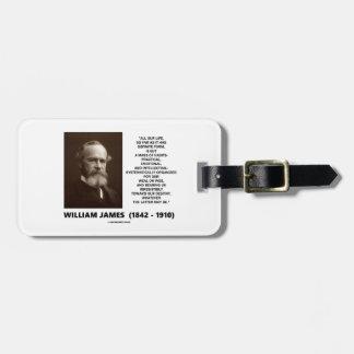 William James-Masse des Kofferanhänger