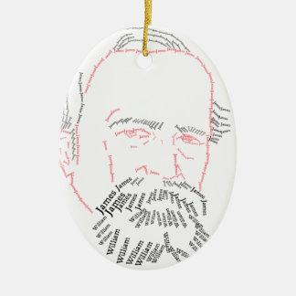 William James-Verzierung Ovales Keramik Ornament