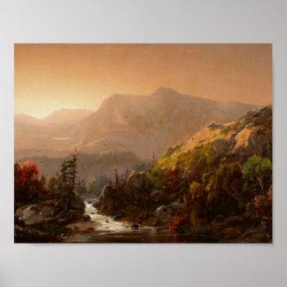 William Louis Sonntag - Herbst-Landschaft Poster