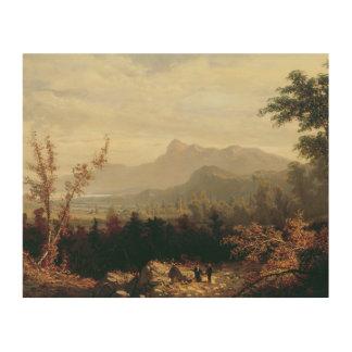 William Louis Sonntag - in den weißen Bergen Holzwanddeko