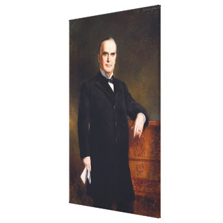 William McKinley-Porträt bis August Benziger Druck Leinwanddruck