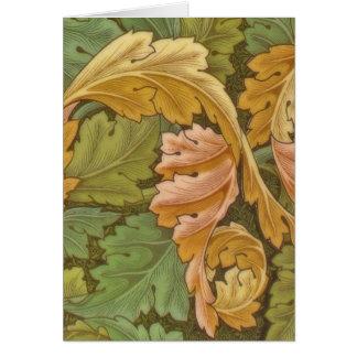 William Morris Acanthus-Vintages Blumen Grußkarte