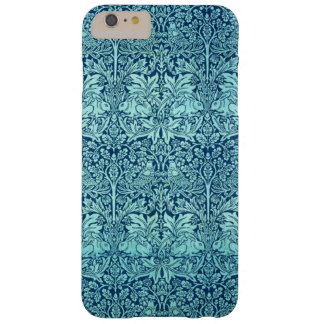 William Morris-Bruder-Kaninchen-Muster im Blau Barely There iPhone 6 Plus Hülle