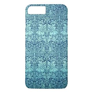 William Morris-Bruder-Kaninchen-Muster im Blau iPhone 7 Plus Hülle