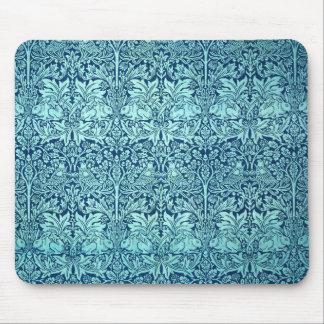 William Morris-Bruder-Kaninchen-Muster im Blau Mauspads