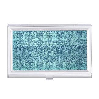 William Morris-Bruder-Kaninchen-Muster im Blau Visitenkarten Etui