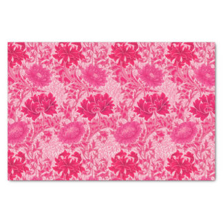 William Morris-Chrysanthemen, Fuchsien-Rosa Seidenpapier