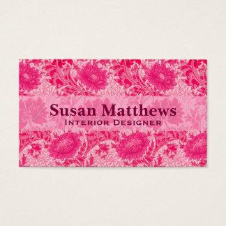 William Morris-Chrysanthemen, Fuchsien-Rosa Visitenkarte