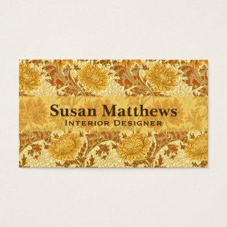 William Morris-Chrysanthemen, Senf-Gold Visitenkarte