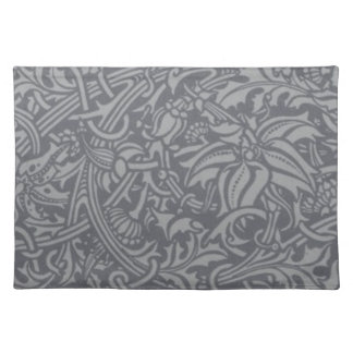 William Morris-Distel-Blumenkunst Nouveau Muster Tischset