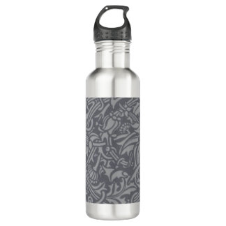 William Morris-Distel-Blumenkunst Nouveau Muster Trinkflasche