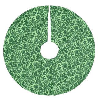 William Morris-Distel-Damast, Smaragdgrün Polyester Weihnachtsbaumdecke