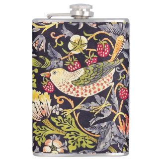 William Morris-Erdbeerdieb-Blumenkunst Nouveau Flachmann