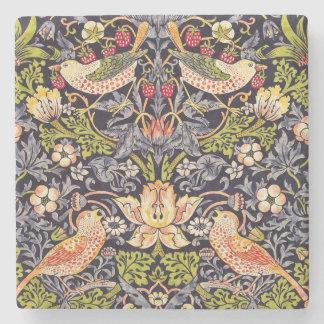 William Morris-Erdbeerdieb-Blumenkunst Nouveau Steinuntersetzer
