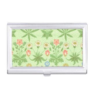 William Morris-Gänseblümchen-Muster Visitenkarten Etui