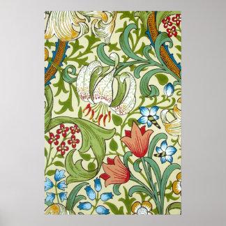 William Morris-Garten-Lilien-Tapeten-schöne Kunst Poster