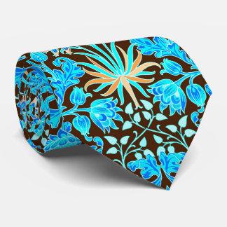 William Morris-Hyazinthen-Druck, Aqua und Brown Krawatte