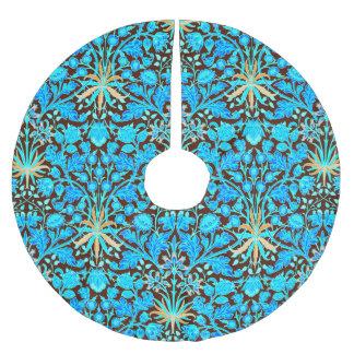 William Morris-Hyazinthen-Druck, Aqua und Brown Polyester Weihnachtsbaumdecke