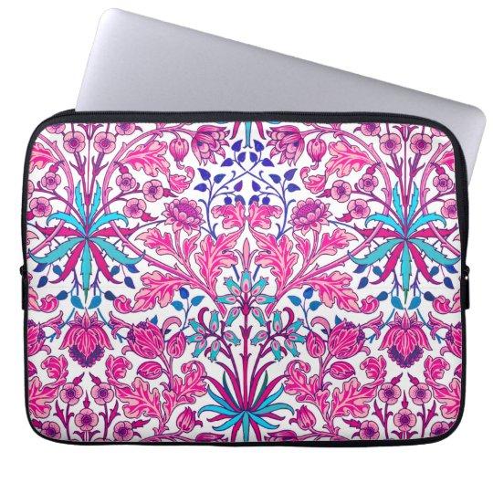 William Morris-Hyazinthen-Druck, Fuchsien-Rosa Computer Sleeve Schutzhülle