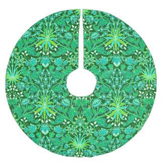 William Morris-Hyazinthen-Druck, Smaragdgrün Polyester Weihnachtsbaumdecke