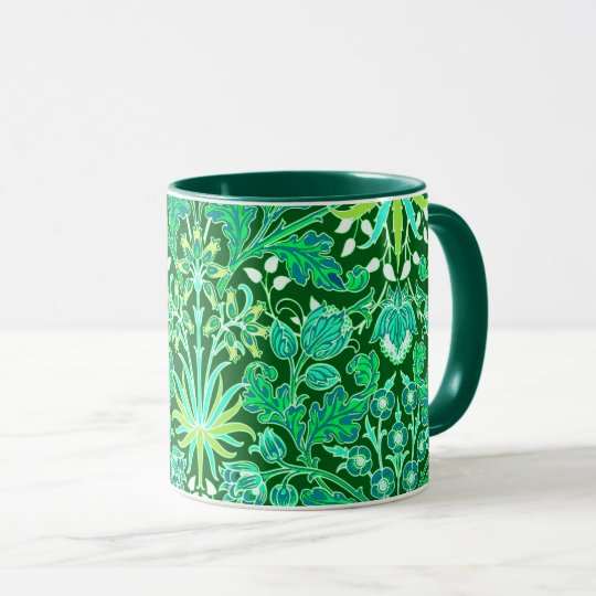 William Morris-Hyazinthen-Druck, Smaragdgrün Tasse