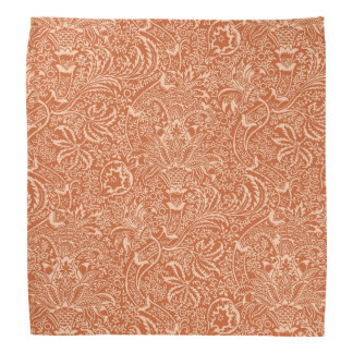William Morris-Inder, korallenrote Orange und Halstuch