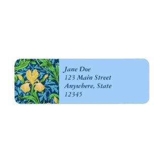 William Morris-Iris, Gelb und Kobalt-Blau