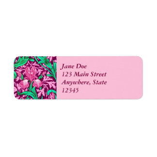 William Morris-Iris, pinkfarbenes Rosa und Wein