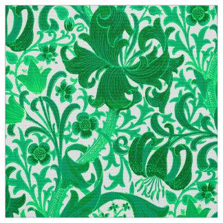 William Morris-Iris und Lilie, Jade-Grün Stoff
