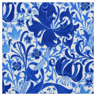 William Morris-Iris und Lilie, Kobalt-Blau Stoff