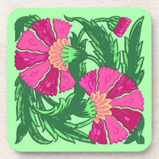 William Morris-Jacobean, pinkfarbenes rosa und Untersetzer