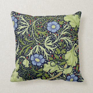 William Morris-Meerespflanze-Tapeten-Muster Kissen