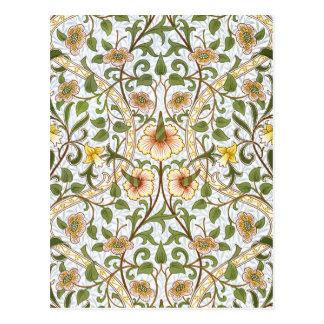 William Morris-Narzissen-Chintz-Muster-Postkarte Postkarte