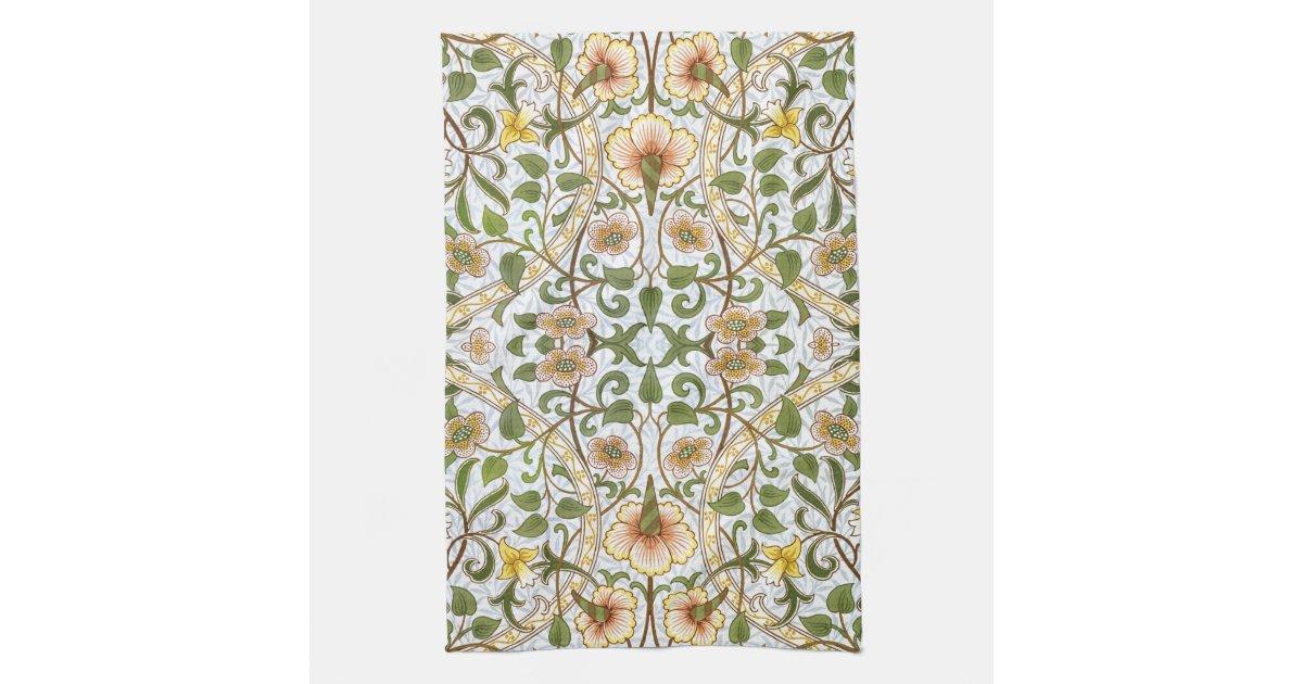 William Morris-Narzissen-Küchen-Tee-Tuch Geschirrtuch | Zazzle