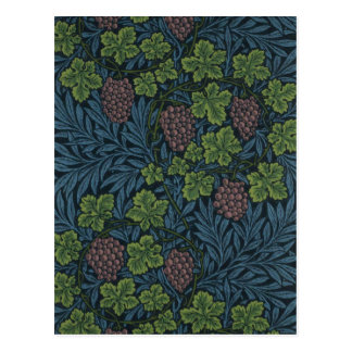 William Morris-Rebe-Tapeten-Entwurf Postkarte
