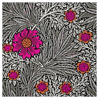 William Morris-Ringelblume, Graues/Grau und Weiß Stoff