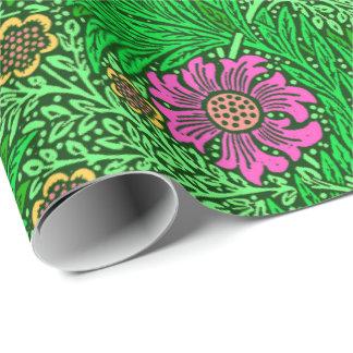 William Morris-Ringelblume, Smaragdgrün u. Fuchsie Geschenkpapier