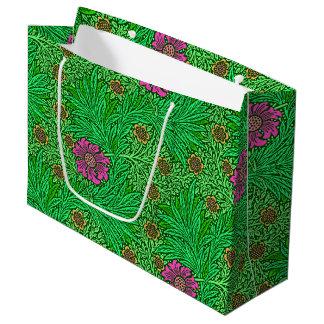 William Morris-Ringelblume, Smaragdgrün u. Fuchsie Große Geschenktüte