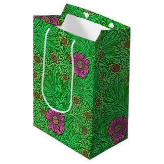 William Morris-Ringelblume, Smaragdgrün u. Fuchsie Mittlere Geschenktüte