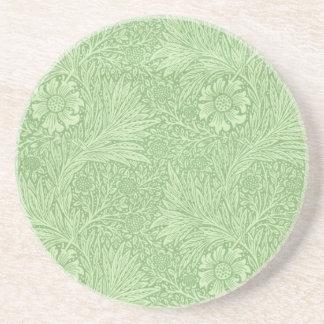 William Morris-Ringelblumen-(grünes) Muster Getränkeuntersetzer