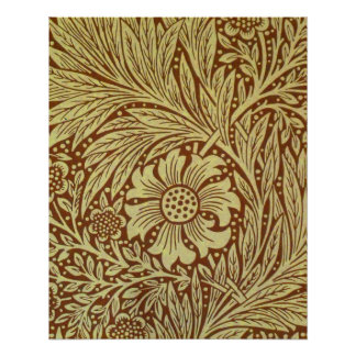 William Morris-Ringelblumen-Tapete Poster