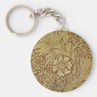 William Morris-Ringelblumen-Tapete Schlüsselanhänger